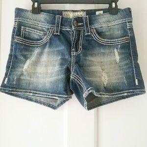 BKE | Culture Distressed Jean Shorts